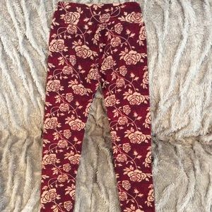 Lularoe rose leggings. Like new